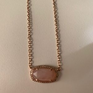 Pink Kendra Scott with rhinestones